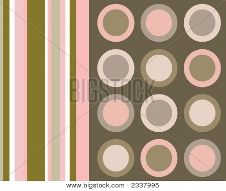 Retro Brown And Pink Collage