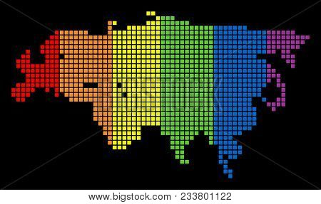 A Dotted Lgbt Pride Europe And Asia Map For Lesbians, Gays, Bisexuals, And Transgenders. Spectrum Ve