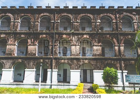 Cellular Jail In Port Blair, Cellular Jail Was Used By The British To Exile Political Prisoners.