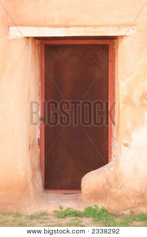 Southwest Adobe Wall And Door
