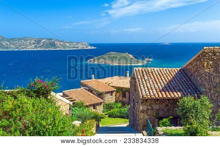 Italy, Sardinia, Cala Brandinghi Seen From The Houses Of The Capo Coda Cavallo