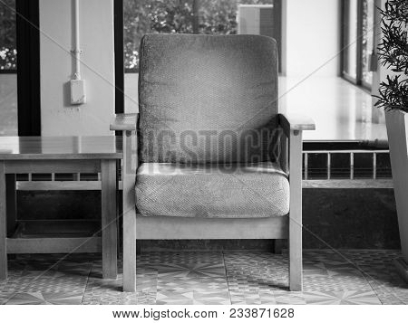 Vintage Black And White Chair For Relax And Rest Slow Life.