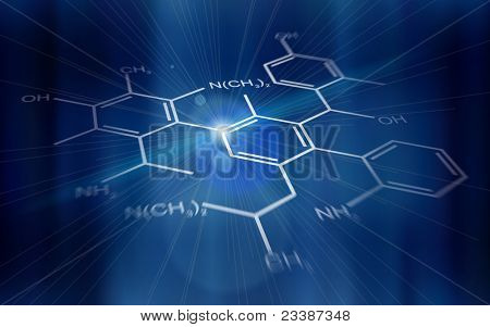 Technology background: chemical formulas. Bitmap copy my vector ID 76322467