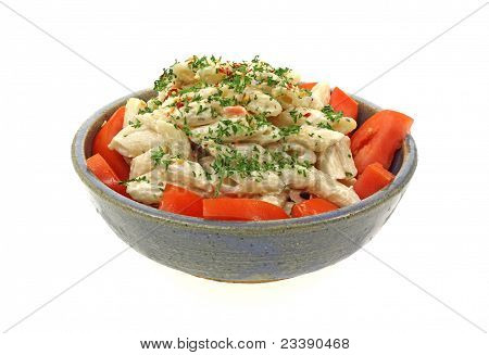 Creamy Pasta Salad Front View