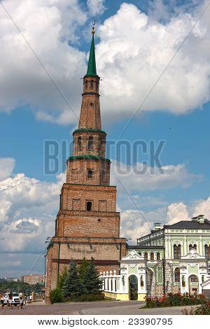 The Leaning Tower Of Kazan Kremlin (russia)