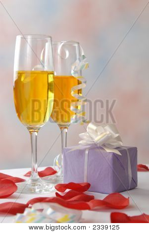 Romantic Gift And Wine