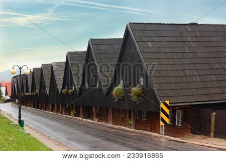Famous Weavers houses in Chelmsko Slaskie, Poland