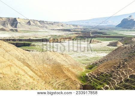 Extensive Landscape Of Clay Hills And Small Adjoining Canyons