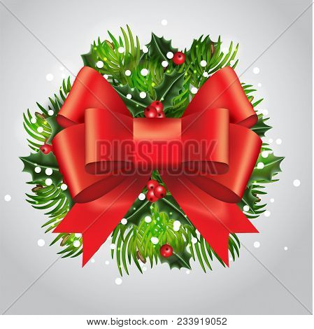 New Year Card With Traditional Tameing. Christmas Decoration For Your Design. Merry Christmas And Ha