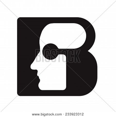 English Font Upper Case Letter B B Logo Logotype - Human Faces Of Cyborg Robots, For Computer Theme,