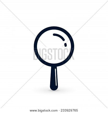 Magnifying Glass Icon, Vector Magnifier Or Loupe Simple Sign.