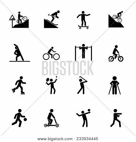 Training Icon Set. Can Be Used For Topics Like Sport, Healthy Lifestyle, Workout, Fitness, Exercise