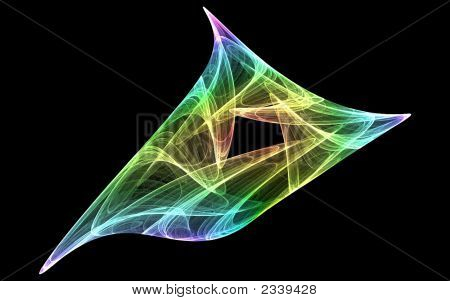 Abstract Colourful Smoke Swirl