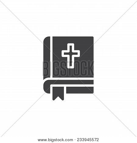 Bible Vector Icon. Filled Flat Sign For Mobile Concept And Web Design. Holy Bible Book With Bookmark