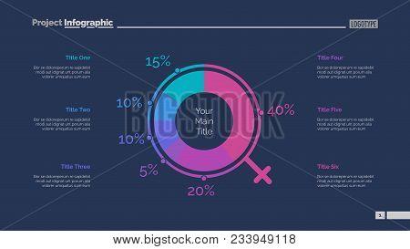 Demographics Chart Slide Template. Business Data. Graph, Diagram, Design. Creative Concept For Infog
