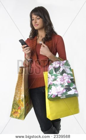 Woman With Cellular Phone