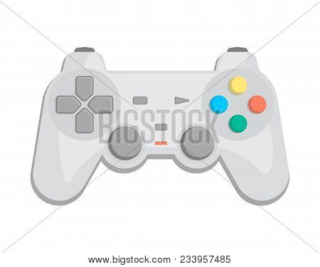 Wireless Joypad For Game Console Icon In Cartoon Style. Game Gadget, Cybersport Digital Device, Cont