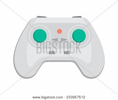 Wireless Keypad For Game Console Icon In Cartoon Style. Game Gadget, Cybersport Digital Device, Cont