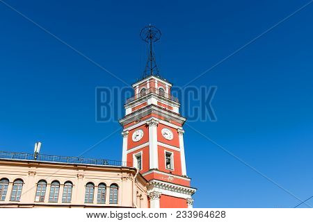Russia, Saint Petersburg - August 18, 2017: Tower Of The City Duma. Nevsky Avenue 33