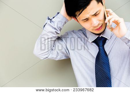 Handsome Businessman Gets Upset And Unsatisfied, His Customer Or Employee Cheats Him. Charming Man T