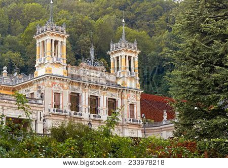 San Pellegrino Terme, Italy - August 18, 2017: A Magnificent Example Of The Liberty Style, The Casin