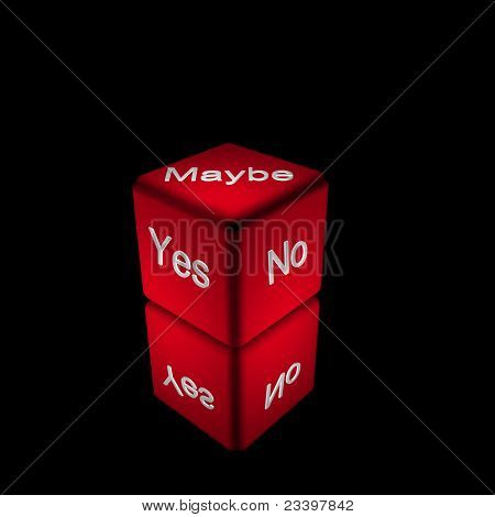 Yes, No or Maybe Dice