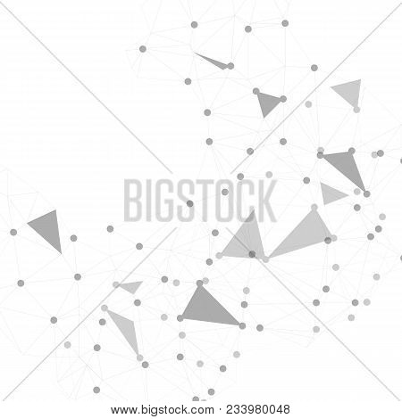 Polygonal Space Background With Connecting Dots And Lines. Abstract Connection Structure.