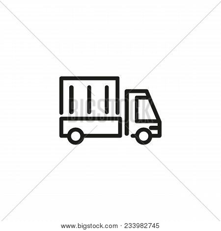 Icon Of Transporting Goods. Moving Company, Industry, Delivery. Logistics Concept. Can Be Used For T