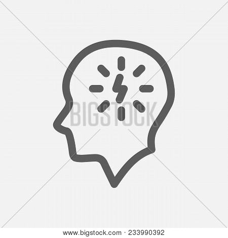 Manage Stress Icon Line Symbol. Isolated  Illustration Of  Icon Sign Concept For Your Web Site Mobil