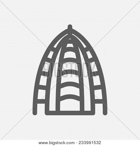 Travel City Series. Symbol Of Country Abu Dhabi City Icon. Isolated Vector Illustration Of Abu Dhabi