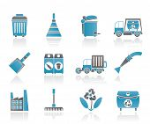 Cleaning Industry and environment Icons - vector icon set poster