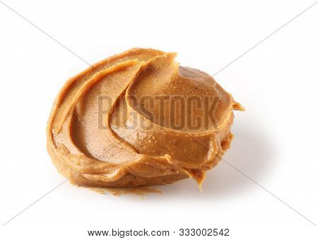 Peanut Butter Isolated On White Background Selective Focus