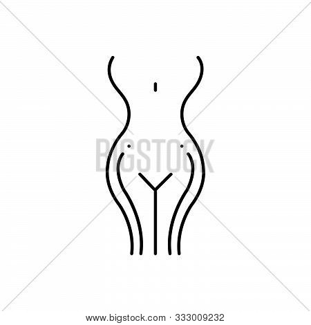 Black Line Icon For Gynecology  Obstetrics-and-gynecology  Pregnant Gynecological-cancer