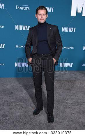 LOS ANGELES - NOV 05:  Luke Kleintank arrives for the 'Midway' World Premiere on November 05, 2019 in Westwood, CA