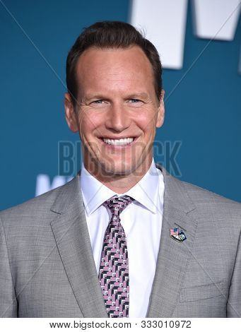 LOS ANGELES - NOV 05:  Patrick Wilson arrives for the 'Midway' World Premiere on November 05, 2019 in Westwood, CA