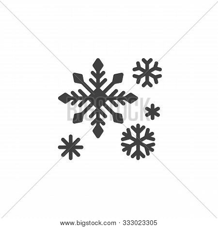 Snowflake Decoration Vector Icon. Filled Flat Sign For Mobile Concept And Web Design. Christmas Snow