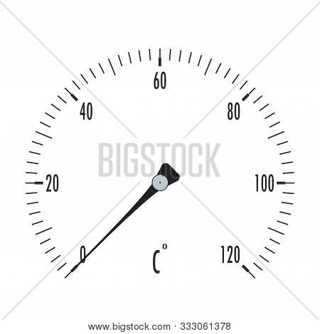 Thermometer. Temperature Gauge. Vector Illustration Isolated On White Background