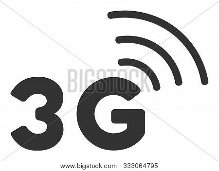 3g Raster Icon. Flat 3g Pictogram Is Isolated On A White Background.