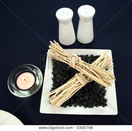 Candle And Cane Decoration