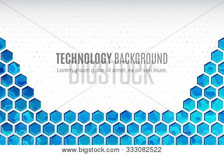 Futuristic High Computer Technology Business Background. Abstract Hi-tech Background. Communication