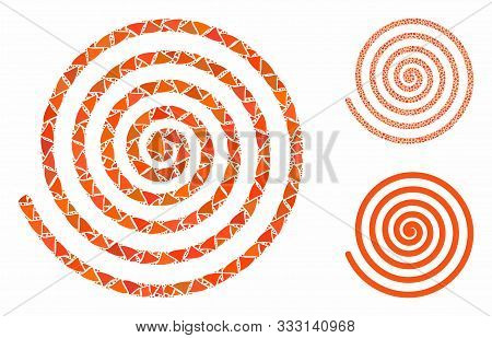 Hypnosis Mosaic Of Joggly Parts In Various Sizes And Shades, Based On Hypnosis Icon. Vector Joggly P