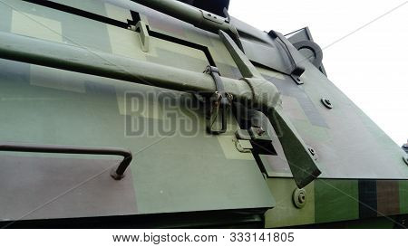 Pickaxe - Hatchet Mounted On The Facade Of An Armored Transport And Combat Vehicle, Necessary For Tr