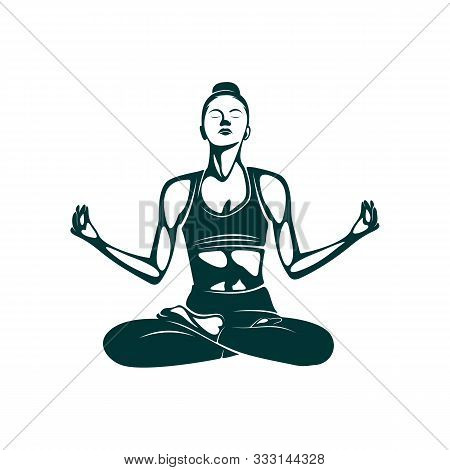 Yoga Logo Design Template. Health Care, Beauty, Spa, Relax, Meditation, Nirvana Concept Icon. Templa