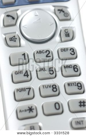 Close up of a cordless phone keypad poster