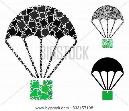 Cargo Parachute Composition Of Trembly Parts In Variable Sizes And Shades, Based On Cargo Parachute