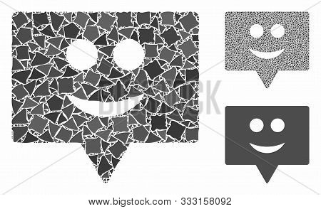 Smile Banner Composition Of Trembly Elements In Various Sizes And Color Tinges, Based On Smile Banne