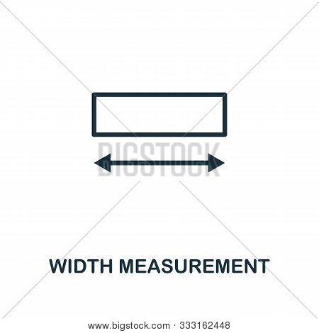 Width Measurement Icon Outline Style. Thin Line Creative Width Measurement Icon For Logo, Graphic De