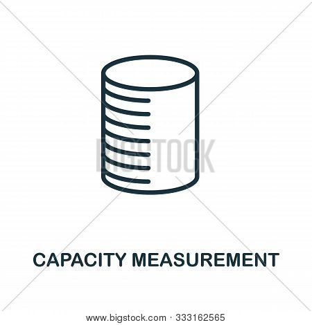 Capacity Measurement Icon Outline Style. Thin Line Creative Capacity Measurement Icon For Logo, Grap