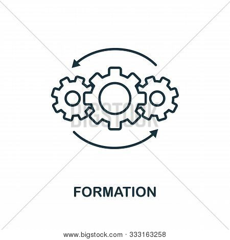 Formation Icon Outline Style. Thin Line Creative Formation Icon For Logo, Graphic Design And More
