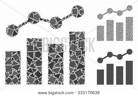Stats Charts Mosaic Of Raggy Items In Various Sizes And Color Tinges, Based On Stats Charts Icon. Ve
